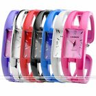 1pc Candy Color Rectangle Case Quartz Analog Girls Cuff Wrist Watch Jewelry New