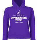 This is What an Awesome Wife Looks Like, Ladies Fit Hoodies, Gift, Sizes 8 - 18