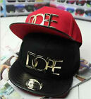 New Fashion Dope Lovers Adjustable Snapback Hip-hop Baseball Cap Unisex Top Sale