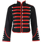Banned Black Red Steampunk Emo Parade Band Coat Gothic Drummer Style New Jacket