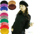 Girl Solid Color Warm Winter Beret French Artist Beanie Hat Ski Cap Hot NEW