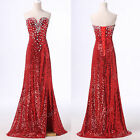 2015 Homecoming Sequins Formal Ball Gown Wedding Prom Party Long Evening Dresses