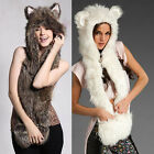 New Design Women Cute Animal Hat Winter Warm Hat Scarf one of  Hat ---AB US