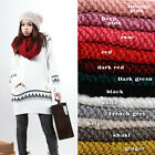 Hotsale Women Knit Neck Circle Wool Cowl Scarf Woolen Knit Snood Scarf Wraps AB