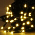 FESTIVE WARM WHITE LED FAIRY STRING LIGHTS CHRISTMAS TREE XMAS OUTDOOR INDOOR