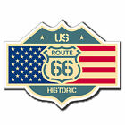 2 x Static Cling Stickers - US Route 66 Flag American Car Window Decal #4043