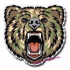 2 x Static Cling Stickers - Army Camo Angry Bear Car Window Decal #0134