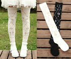 Cute Knit Stocking Thighhigh Princess Bow Crown Gothic Cosplay Dance Sock