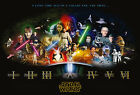Star Wars Cast Giant Poster - A0 A1 A2 A3 A4 Sizes $16.27 CAD on eBay