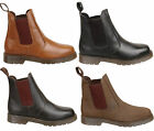 Mens New Air Cushion Sole Leather Chelsea Dealer Ankle Boots Free UK Postage