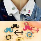 FD494 Vintage Retro Brooch Rudder Anchor Moustache Beard Pins Badge Insignia 1pc