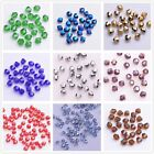 300pcs 3mm Bicone Faceted Glass Crystal Charms Loose Spacer Beads Bulk 30 Colors