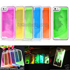Glow in Dark Noctilucent Running Sand Liquid Hard Cover Case For iPhone 5 5G 5S