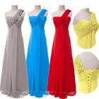 Sexy One Shoulder Bridesmaid Cocktail Prom Party Ball Gown Formal Evening Dress
