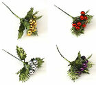 Pack of 3 Christmas Small Bauble Picks Xmas Decoraction Crafts