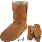 Lambland Ladies / Womens Genuine Sheepskin Short Boots in Chesnut