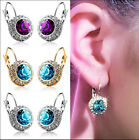 Noble Superior Rhinestone Crystal Earring Ear Stud Clip Dangle Jewellery Lofty