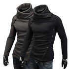 High collar design men's fashion casual and comfortable knit sweater jacket