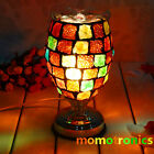 Dimmable Electric Oil Burner Colorful Glass mosaic Night Lights Fragrant Lamp