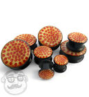 Pair of Pepperoni Pizza Plugs Sizes / Gauges (00G - 1 Inch) - New!