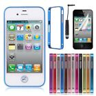Ultra Thin Slim Aluminium Metal Bumper Frame Shell Case Cover For iPhone 4 4G 4S