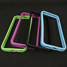 Soft Silicone TPU Bumper Frame Case Cover Skin for iPhone 5 5G 5S w/ Side Button