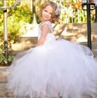 Flower Girl Ball Gown Princess Formal Dress Pageant Tulle Silk Fit Wedding Party