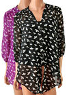 New Ex BHS Floral 2 in 1 Blouse with Cami Purple or Black Plus Size 16 18