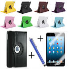 3in1)Leather 360 Rotating Smart Wake Sleep Stand Case Cover f iPad 234/Air5/Mini