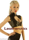 Genuine leather back lacing vest top sleeveless fetish rocket wc8