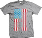 Patriotic Dumbbell Bars Kettlebells USA Flag Weight Lifting Fitness Mens T-shirt