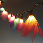20 MIX COLOR FLOWER STRING LIGHTS(REAL LEAF):PARTY,PATIO,FAIRY,DECOR,WEDDING L:8