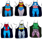 BBQ apron superman SEXY men wonder woman batman Novelty Funny cosplay cooking
