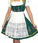 DIRNDL German Dress Oktoberfest SHORT GREEN 3 Pcs German Bavarian Trachten Party