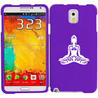 For Samsung Galaxy Note 2 3 4 Rubber Hard Case Cover Buddha Yoga Om Lotus