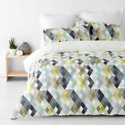 Kensington Grey Printed  Quilt / Doona Cover Set All Sizes NEW 30 - 40% off RRP