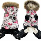 Lovely 1Pc New Dogs Warm Clothes Gray Bear Print Pet Dogs Winter Coat Clothes