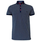 Bewley And Ritch Loch Short Sleeve All Over Print Polo Shirt Navy Various Sizes