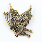 Xmas Gift Fashion Butterfly Shape Brooch Pin Wedding Party Gold/Silver