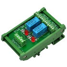 DIN Rail Mount 2 DPDT Signal Relay Interface Module.