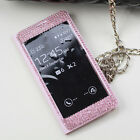Crystal Bling Diamond View Leather Cover Case For Samsung Galaxy Note 3 N9000