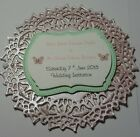 Beautiful Handmade BUTTERFLY Circle Wedding Invitations ~ any qty/colour