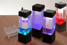 Colorful LED Crystal Aquariums Electronic Night Light Christmas Home Decor Lamp