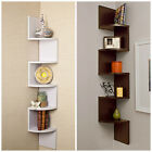Luxury Walnut or White Corner Wall Mount Shelf Room Decor Wood Bookcase Cheap