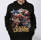Men Personality League Legends Printed Hoodies Sweatshirt Sweater Jumper Top