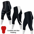 Cycling 3/4 Tights / Shorts Cycle Trousers CoolMax Anti-Bac Padded MENS,LADIES