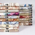 High Quality Flower Thick Natural Linen Fabric Cloth Curtain Rococo Sofa Bed DIY