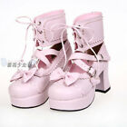 Cosplay Love Lolita Shoes Ankle Boots Princess Dress Shoes Customize Color