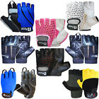 Cycling Gloves Fingerless Cyling / Cycle Mitts Leather Gloves MULTI DESIGN