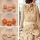 3Colors Fashion Charm Resin Pearl Flower Design Pendants Finding Girl FOZ